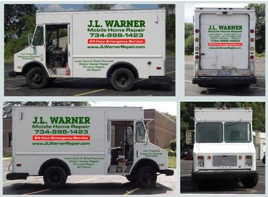 J L Warner Mobile and Manufactured Home Repair, Lawn Care, Snow Removal