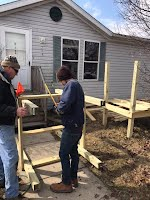 deck buildin, porcheses, stairs, steps, mobile home repair