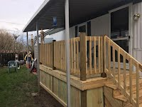 J L Warner Mobile Home Repair - decks, porches, stairs, steps made to order