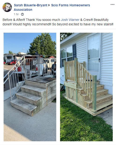 Before and After Stairs built by J L Warner and Crew
